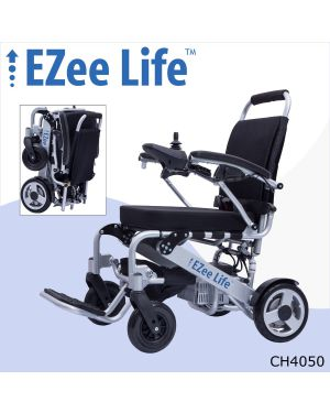 "1G Folding Electric Wheelchair w/ 10"" Rear Wheels - CH4050"
