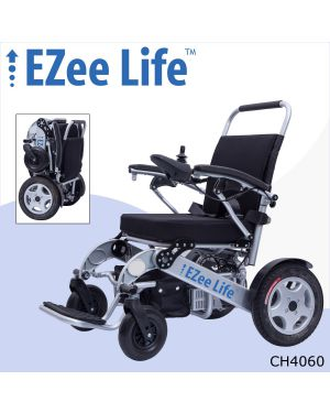 "1G HD Folding Electric Wheelchair w/ 12"" Rear Wheels - CH4060"