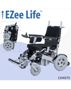 "4G Bariatric Electric Folding Wheelchair - 500 lb Capacity - 20"" Seat - CH4075"
