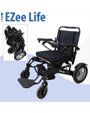 "4G Bariatric Electric Folding Wheelchair - 352 lb Capacity - 21"" Seat - CH4076"